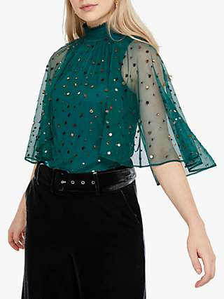 Monsoon Kimberley Embellished Cape Top