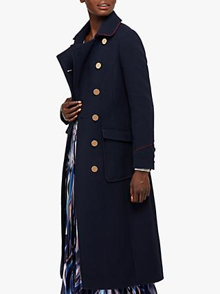 Monsoon Anna Military Coat, Navy
