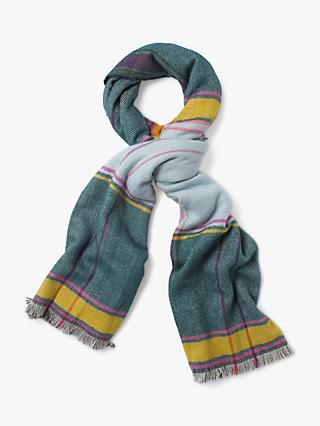 White Stuff Siobhan Check Scarf, Blue/Multi