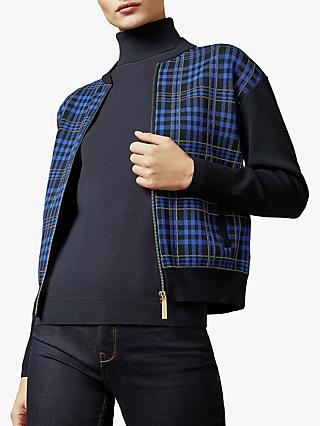 Ted Baker Leolli Topaz Check Jacket, Mid Blue