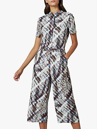 Ted Baker Balay Abstract Snakeskin Jumpsuit, Dark Brown