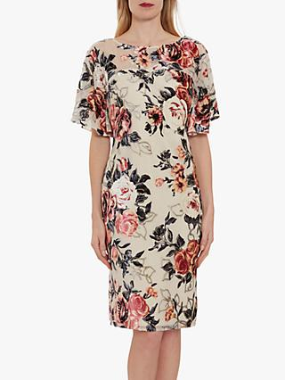 Gina Bacconi Melrose Burnt Out Floral Velvet Dress, Pink
