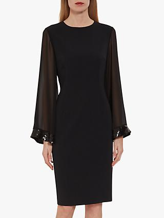 Gina Bacconi Hania Moss Crepe Embellished Dress