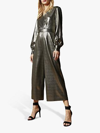 Ted Baker Twigga Metallic Wrap Jumpsuit, Gold