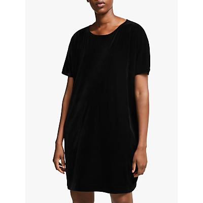eileen fisher velvet dress, black