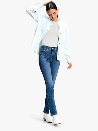 Levi's 724 High Rise Straight Jeans, Paris Storm