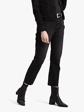 Levi's 501 Cropped Jeans, Black Heart