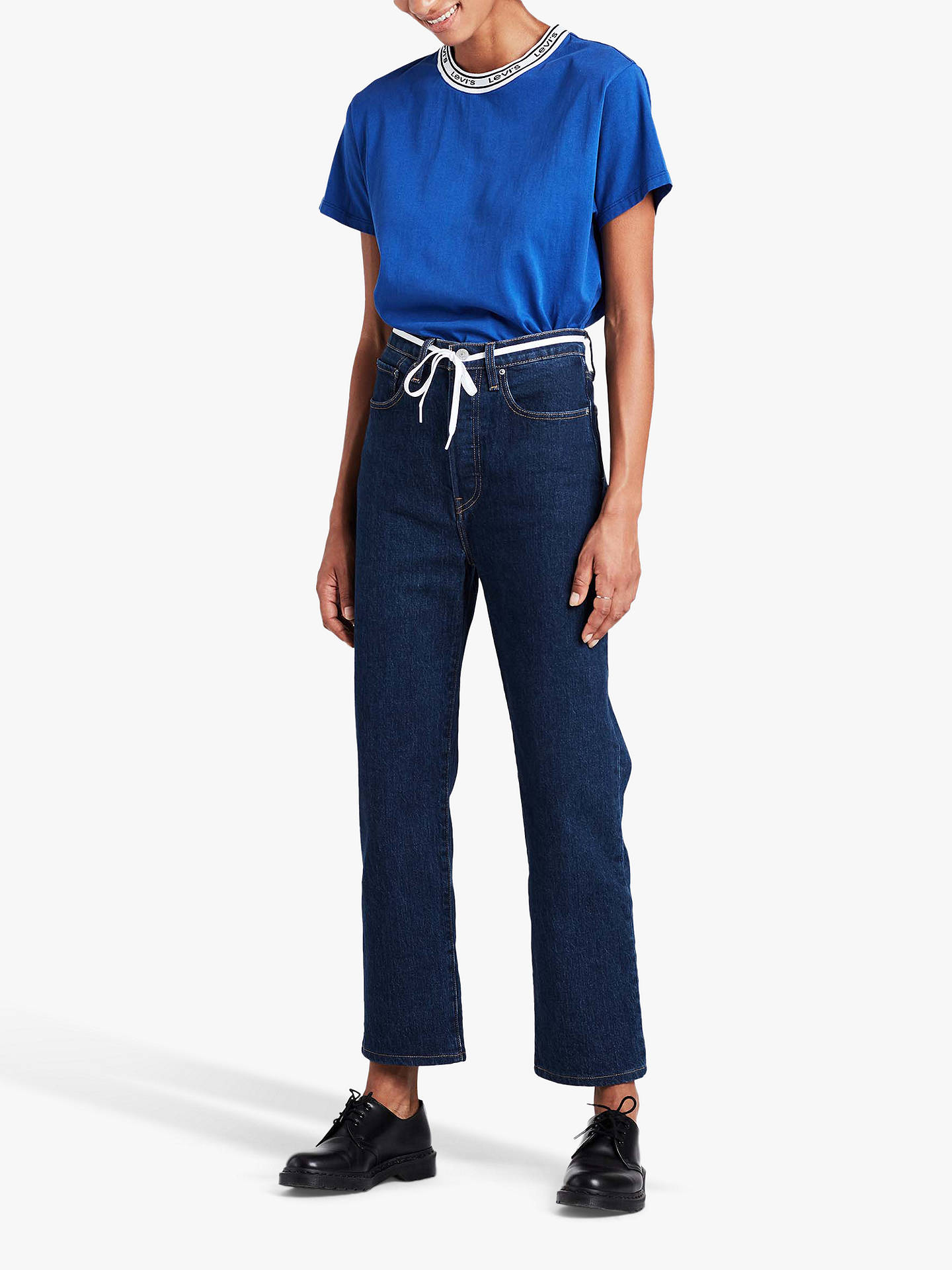 Buy Levi's Ribcage Straight Ankle Jeans, Life's Work, W27/L27 Online at johnlewis.com