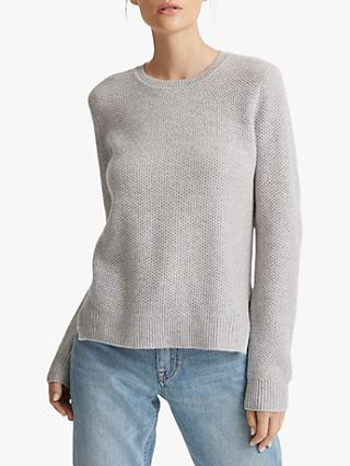 Club Monaco Cashmere Jumper, Light Heather Grey