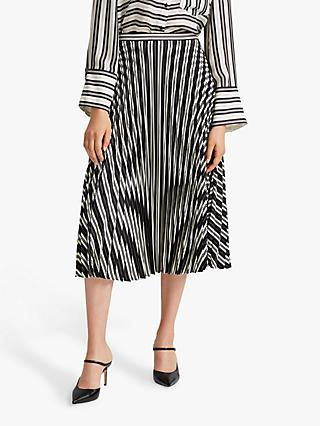 Club Monaco Annina Stripe Skirt, Black