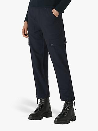Whistles Steffi Cargo Trousers, Navy