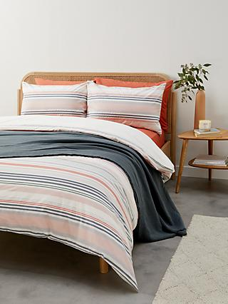John Lewis & Partners Texture Stripe Duvet Cover Set
