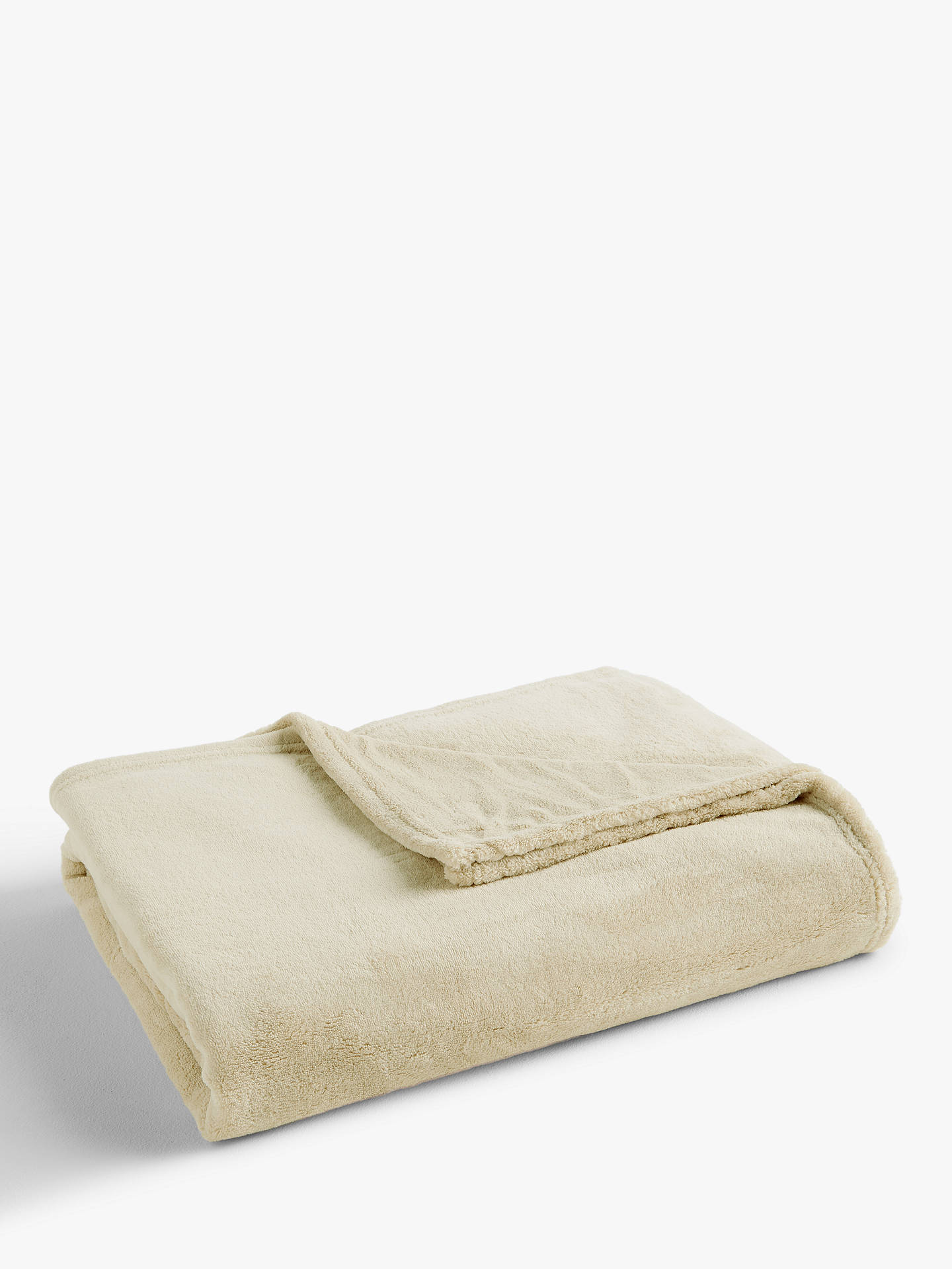Buy John Lewis & Partners Fleece Throw, Latte, L180 x W140cm Online at johnlewis.com
