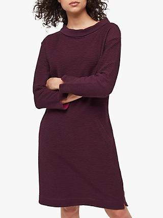 White Stuff Bellever Cowl Dress, Floral Plum Print