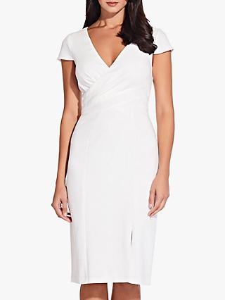 Adrianna Papell V-Neck Sheath Dress, Ivory