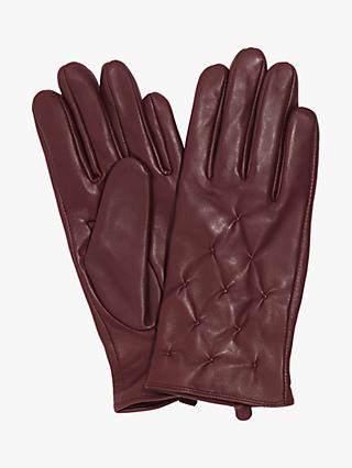 Phase Eight Laurie Leather Pintuck Gloves