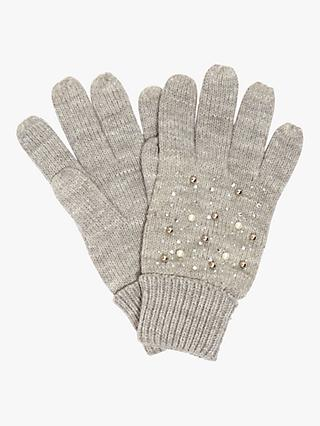 Phase Eight Joni Jewel Gloves, Grey