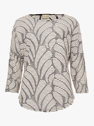 Buy Phase Eight Hensley Wave Top, Black/Ecru, 8 Online at johnlewis.com