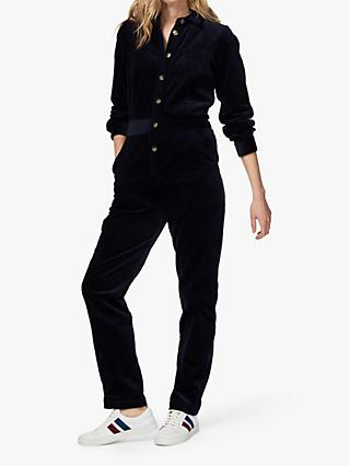 Brora Jumbo Cord Jumpsuit, French Navy