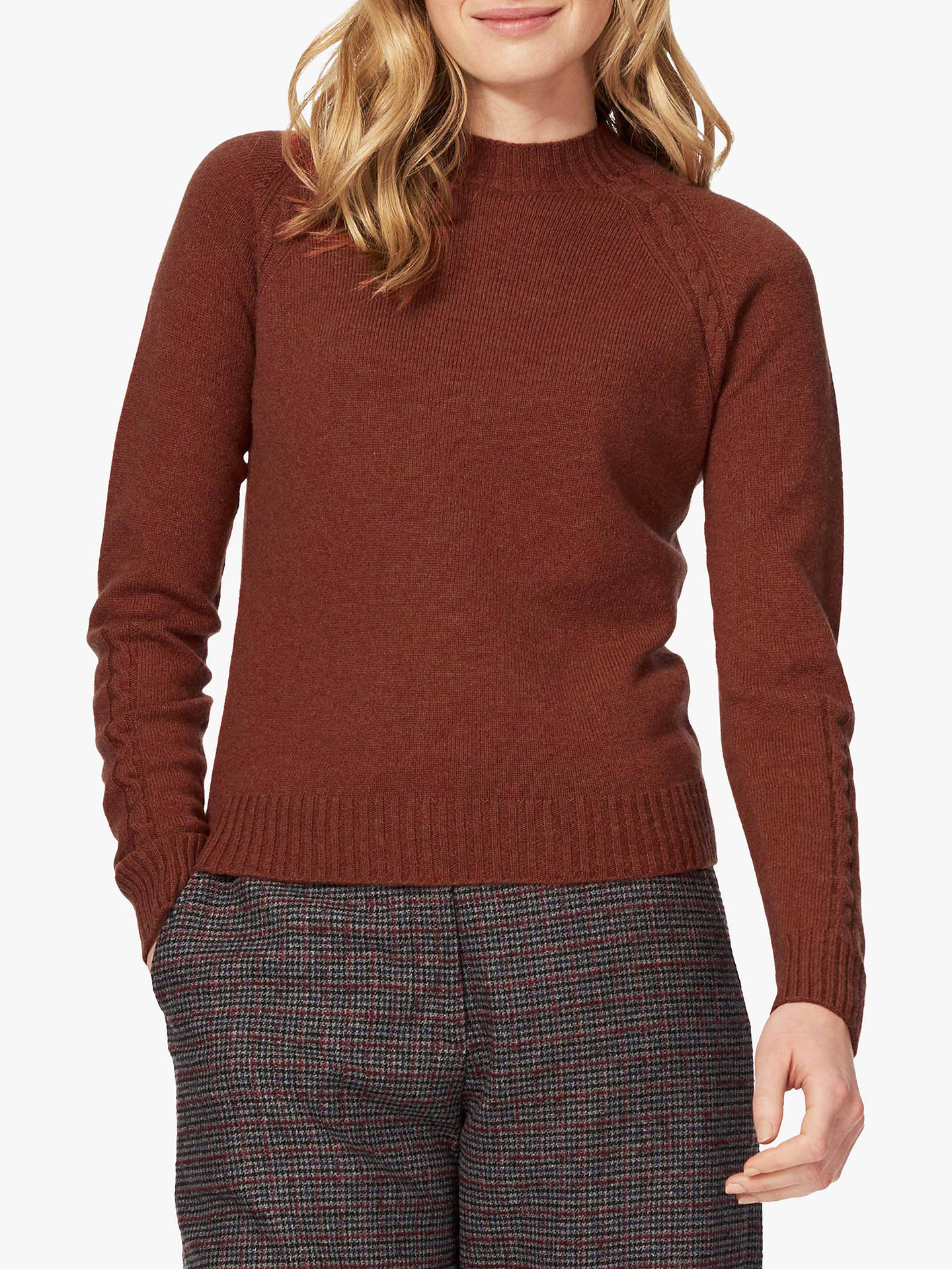 Brora Cashmere Cable Detail Jumper at John Lewis & Partners