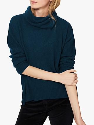 Brora Cashmere Gauzy Polo Neck Sweater