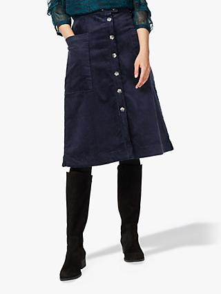 Brora Button Through Jumbo Cord Skirt