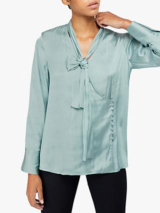 Monsoon Sandi Wrap Blouse, Duck Egg
