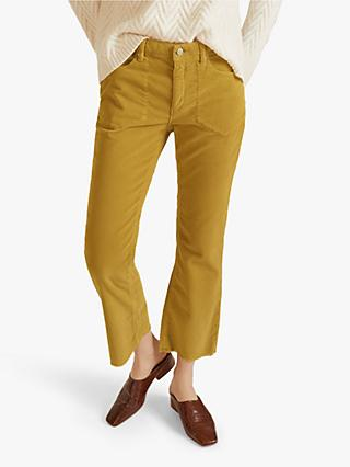 Jigsaw Westbourne Kick Flare Cord Jeans, Mustard