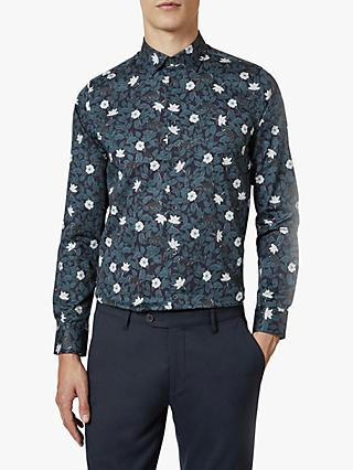 Ted Baker Yeux Flower Print Shirt, Navy