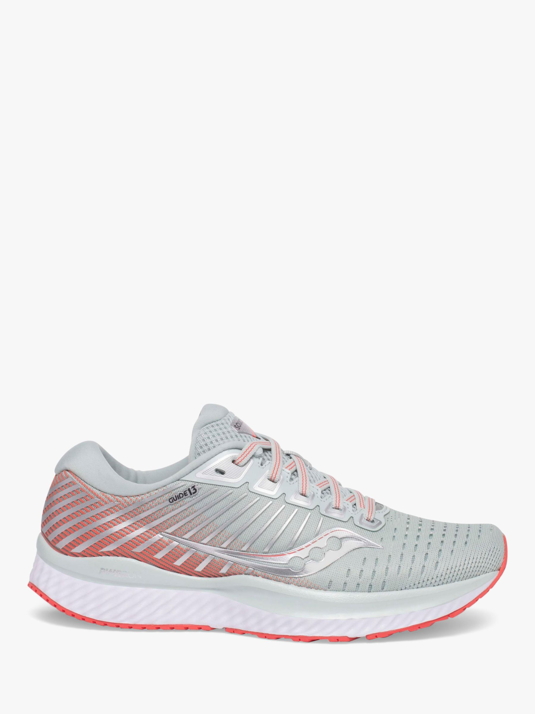 Saucony Saucony Guide 13 Women's Running Shoes, Sky Grey/Coral