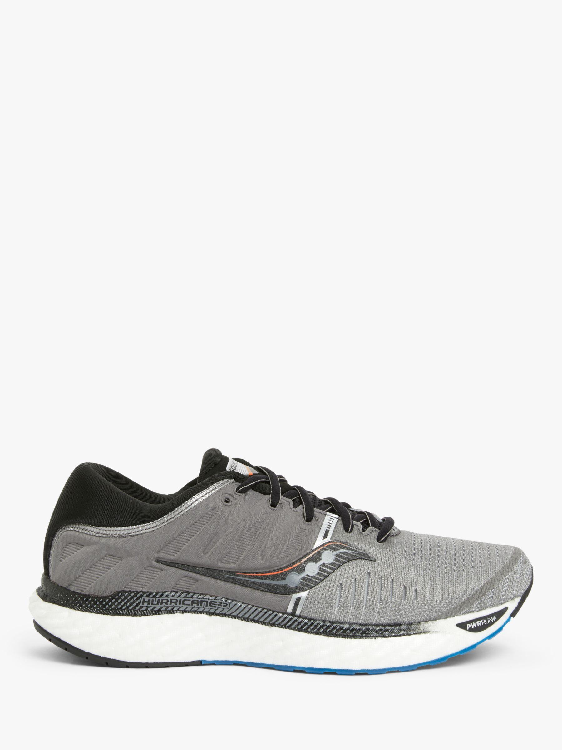 Saucony Saucony Hurricane 22 Men's Running Shoes, Grey/Black