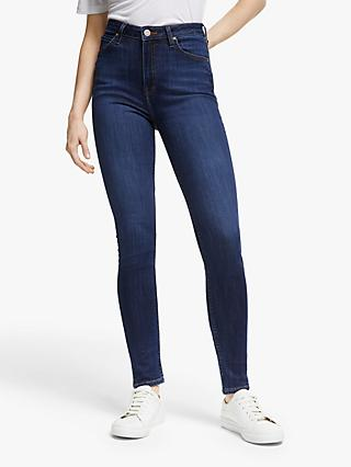 Lee Ivy High Waist Super Skinny Jeans, Dark Hunt