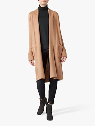 Hobbs Lottie Knit Cardigan, Camel
