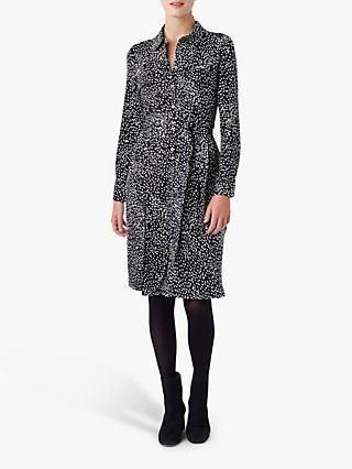 Hobbs Sally Shirt Dress, Navy/Ivory