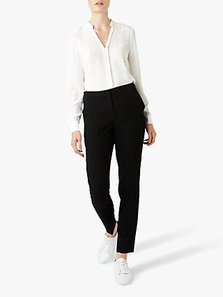 Hobbs May Silk Blouse, Ivory