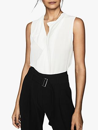 Reiss Keeley Ruffle Front Sleeveless Top