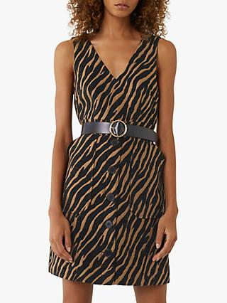 Warehouse Tiger Jacquard Dress, Zebra