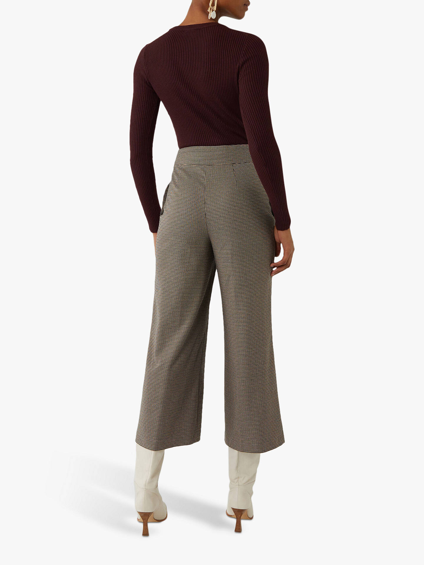 Buy Warehouse Skinny Rib Crew Neck Jumper, Choc, 16 Online at johnlewis.com