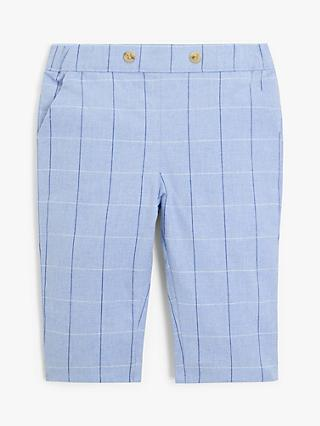 John Lewis & Partners Heirloom Collection Baby Oxford Check Trousers, Blue