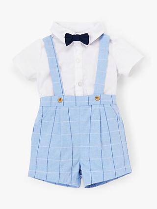 John Lewis & Partners Heirloom Collection Smart Dungaree Set, Multi