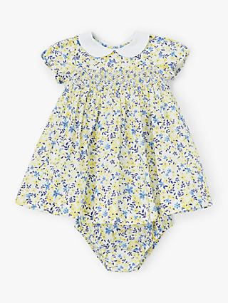 John Lewis & Partners Heirloom Collection Baby Smock Dress, Multi