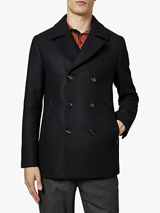 Ted Baker Westun Double Breasted Wool Pea Coat