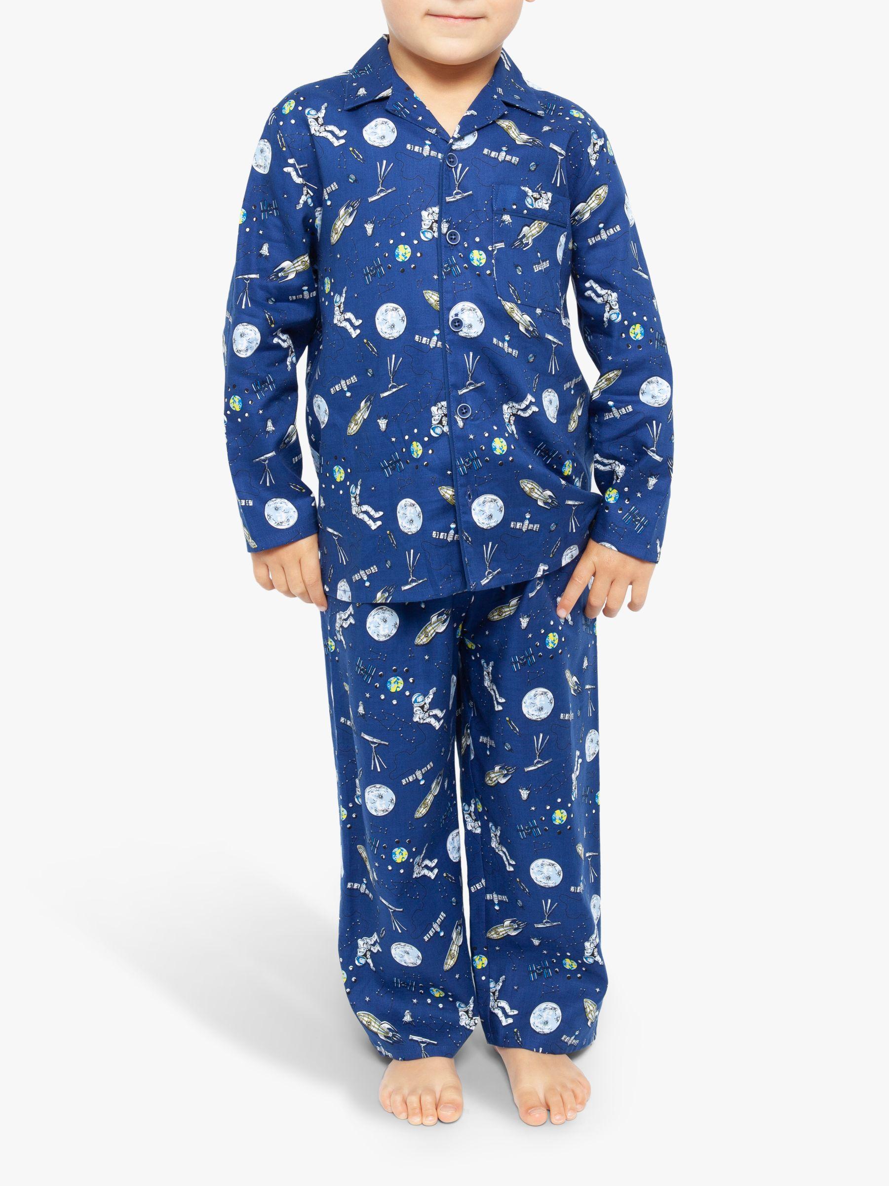 Cyberjammies Cyberjammies Boys' Space Long Sleeve Pyjama Set, Blue