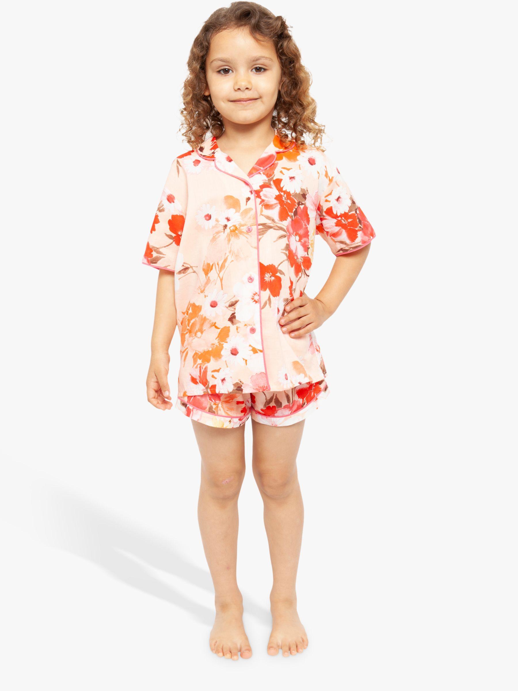 Cyberjammies Cyberjammies Girls' Floral Shortie Pyjama Set, Pink