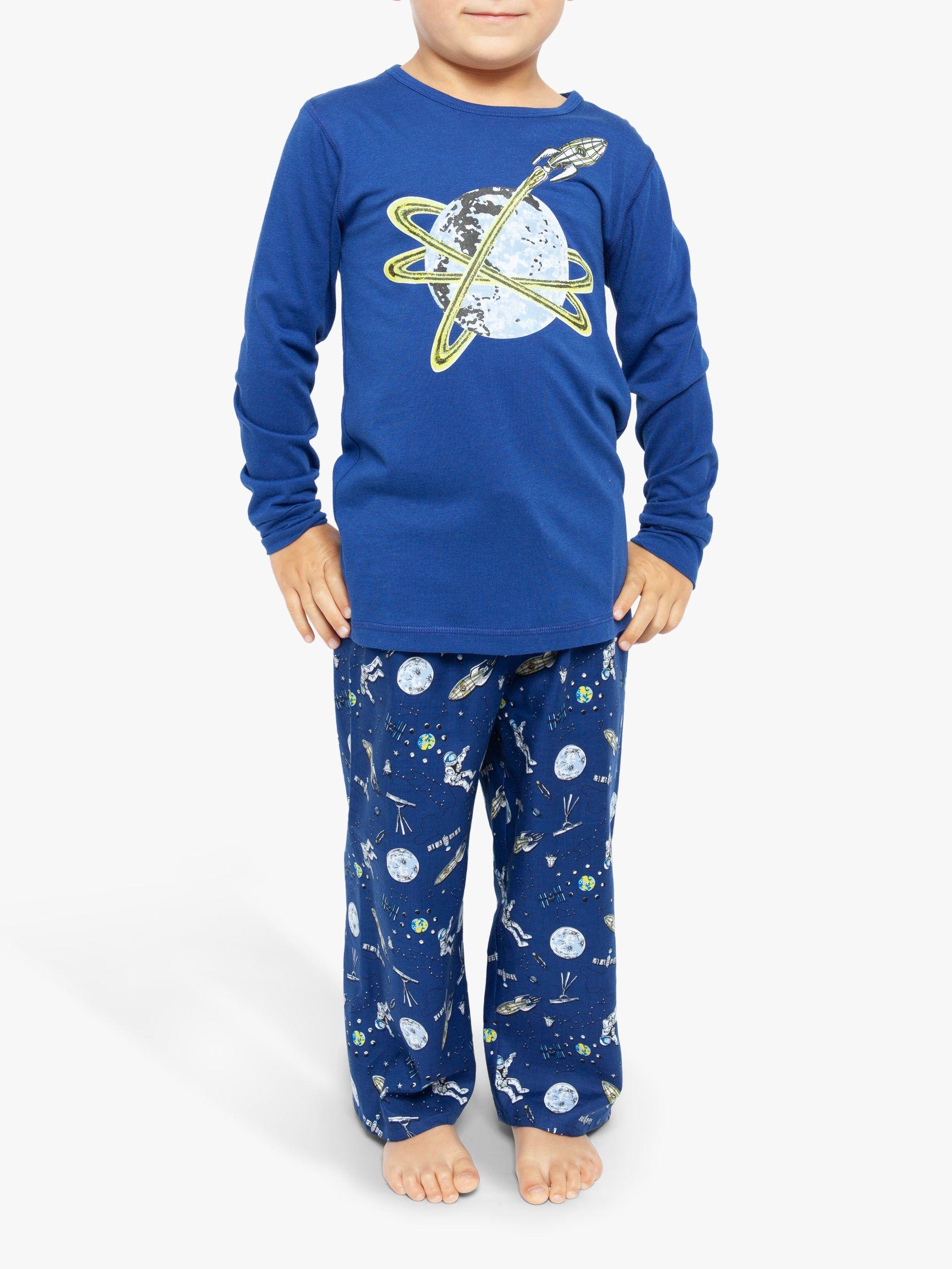Cyberjammies Cyberjammies Boys' Space Print Long Sleeve Pyjama Set, Blue