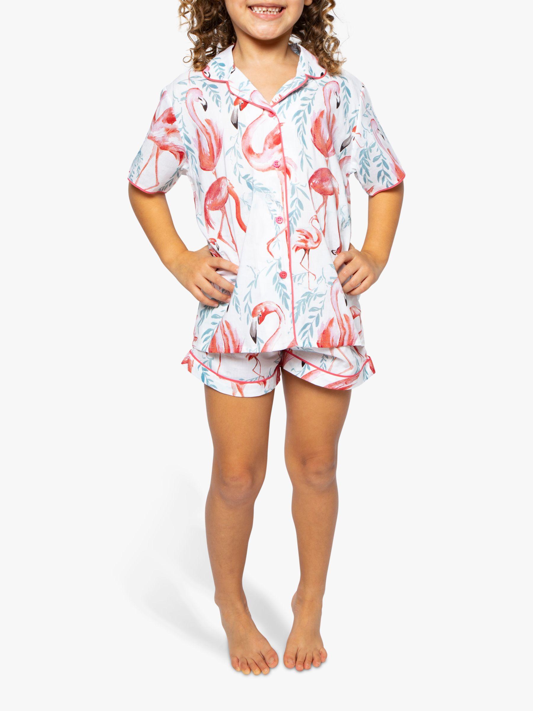 Cyberjammies Cyberjammies Girls' Flamingo Shortie Pyjama Set, White