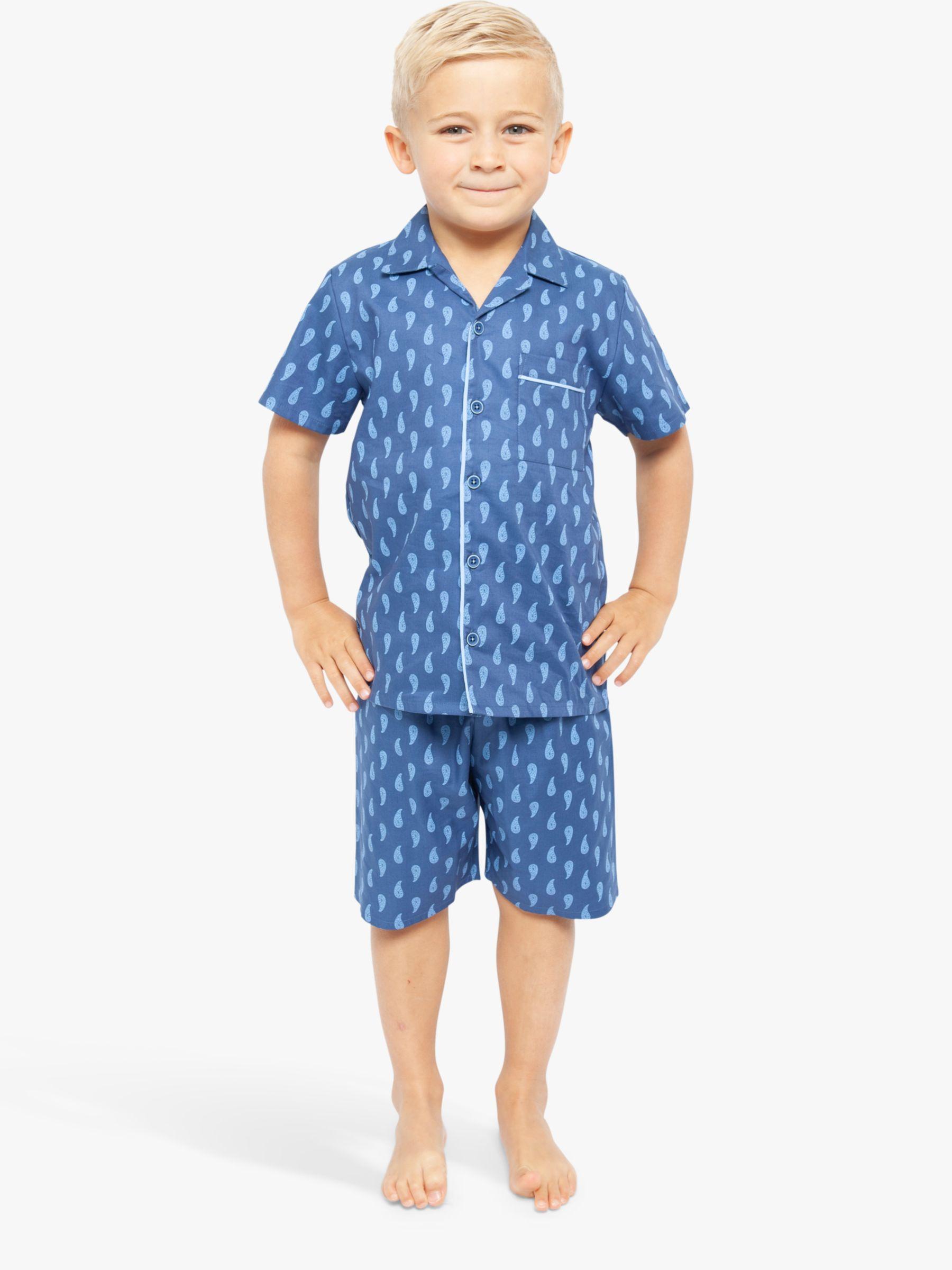 Cyberjammies Cyberjammies Boys' Paisley Shortie Pyjama Set, Blue