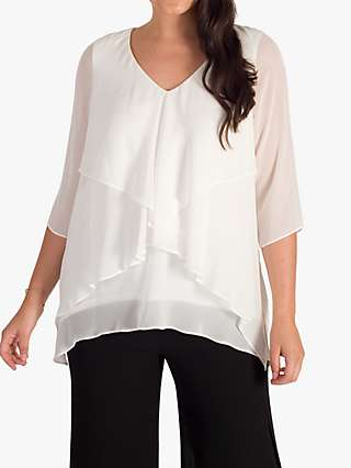 Chesca Fancy Layered V-Neck Top