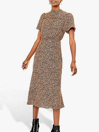 Oasis Leopard Print Midi Dress, Multi