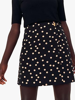 Oasis Spot Scallop Skirt, Multi